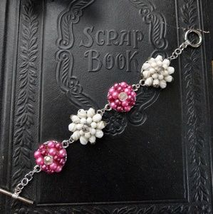 Up-cycled vintage clip-on earring bracelet